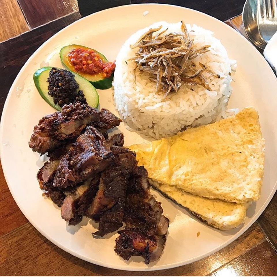 Nasi Lemak Roasted Pork
