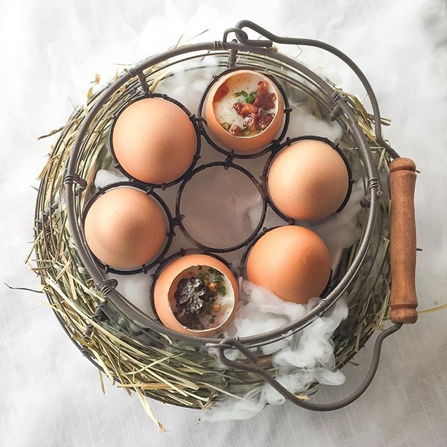 No, this is not your usual breakfast half boiled eggs.