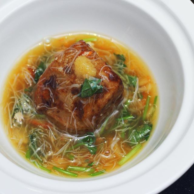 [Tamashii Robataya] - Shrimp Yam with Crabmeat broth.