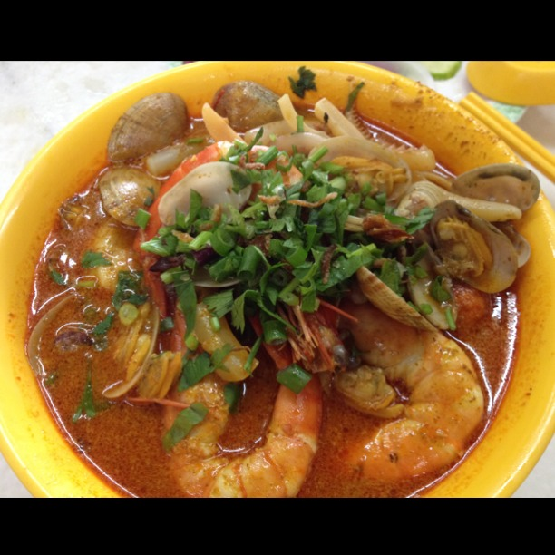 Segambut Seafood Curry Noodles