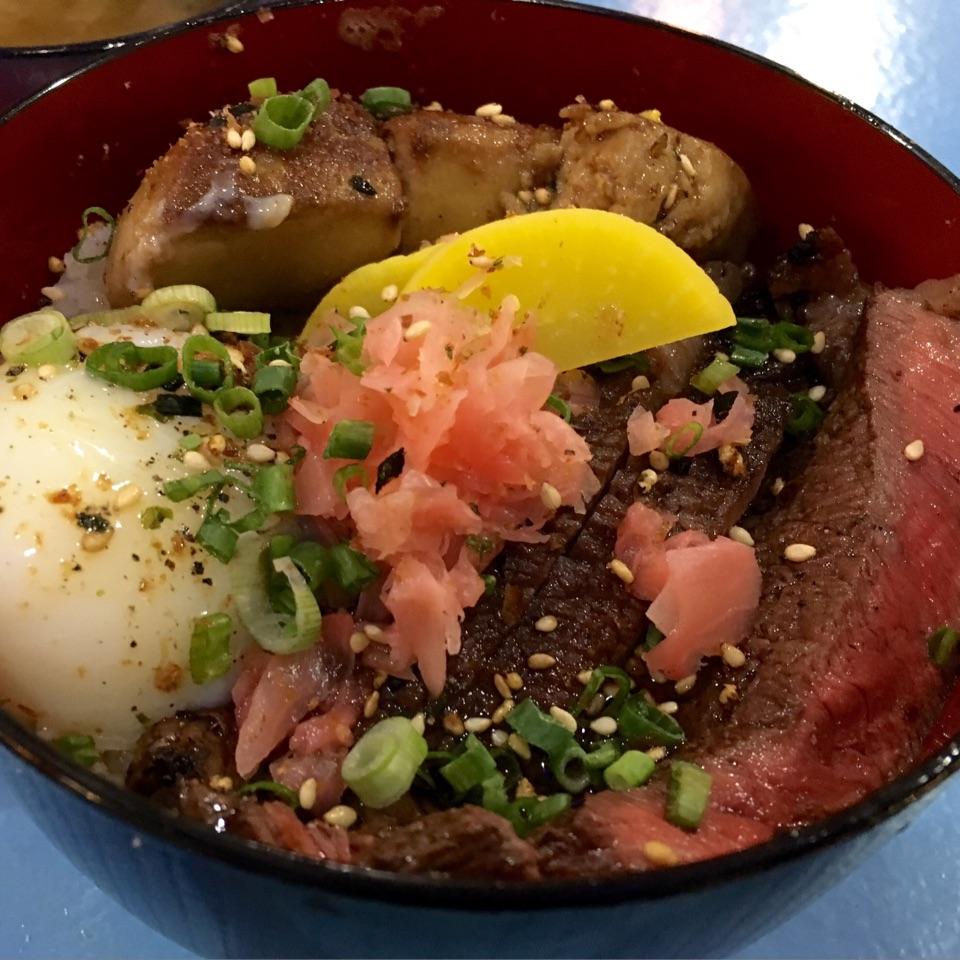 Wagyu Rump Donburi And Foie Gras ($18)