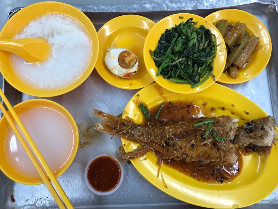 Assorted Dishes With Teochew Porridge