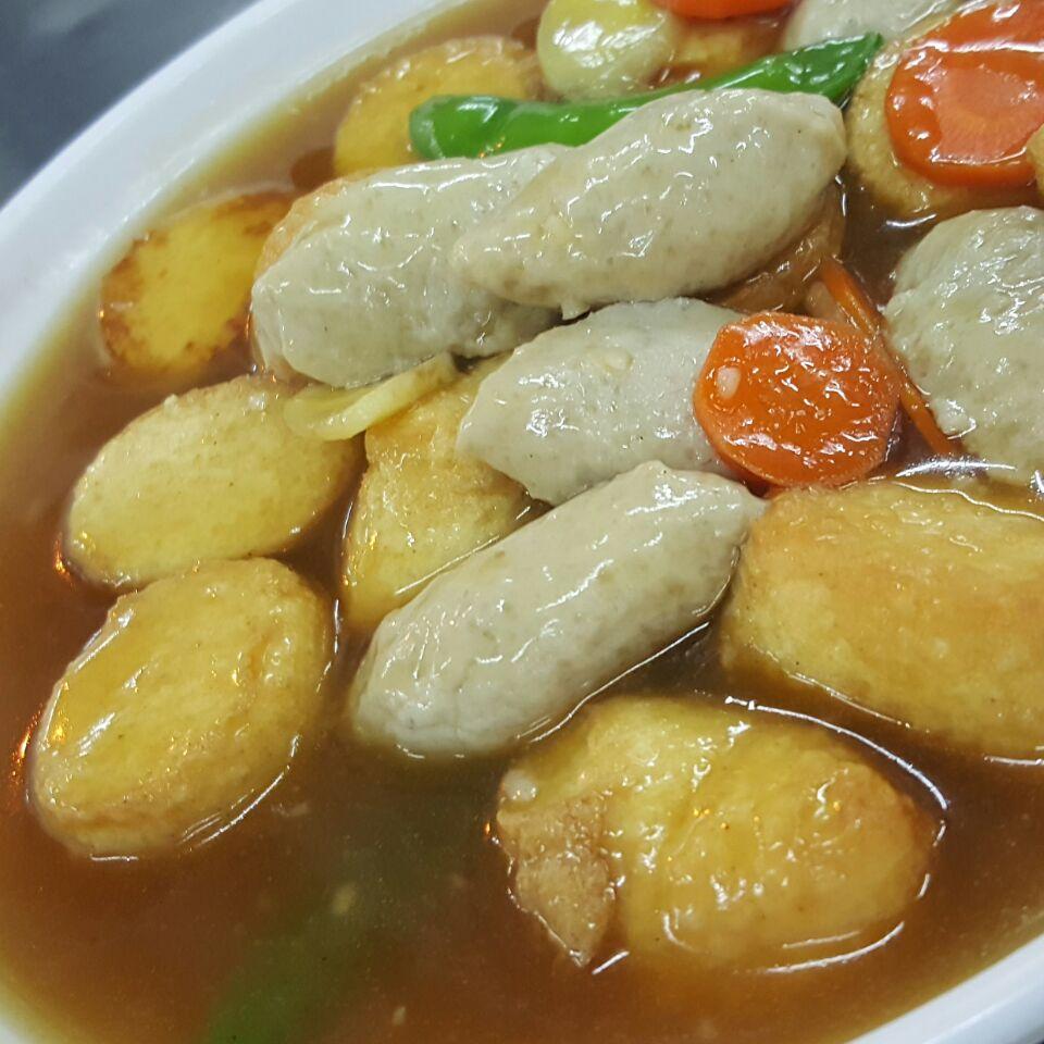 Egg Tofu With Fish Cakes