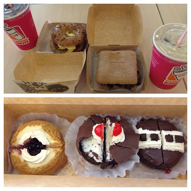 Breakfast before study.😉 #hungariansausage #mushroom #doughnuts #instafood #foodporn