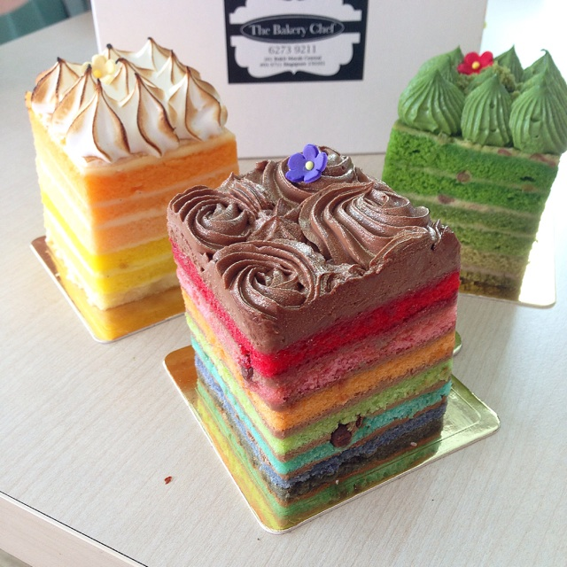 Paul S Bakery Rainbow Cake