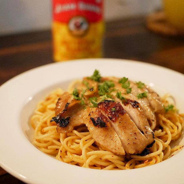 Spicy Aglio Olio wit Grilled Chicken | RM16
