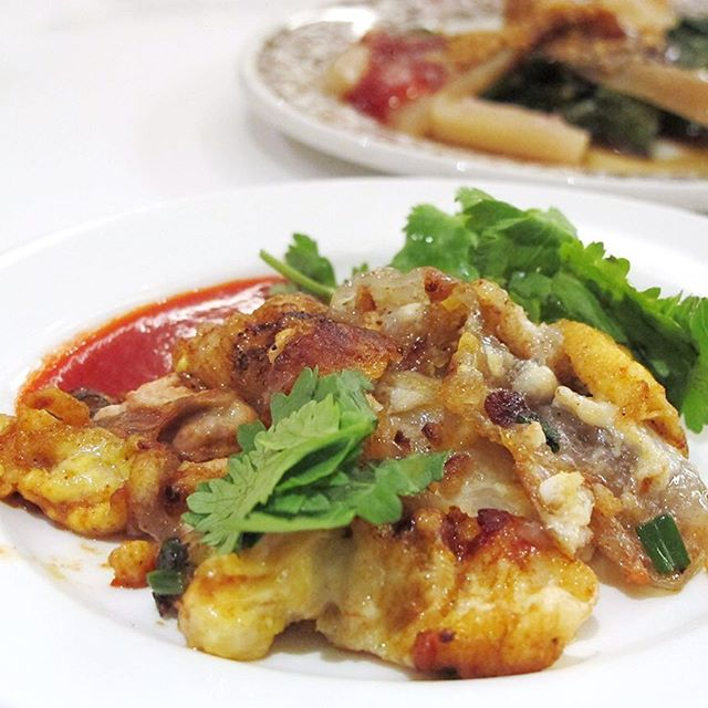 One plate of Orh Luak (Oyster Omelette) without orh (oyster) please!