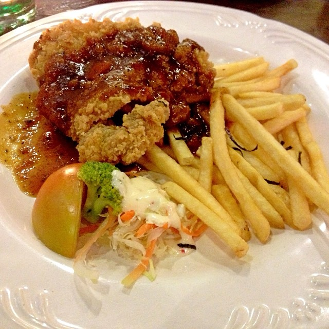 Blackpepper Chicken Chop Fries Yummy Delicio 134 231