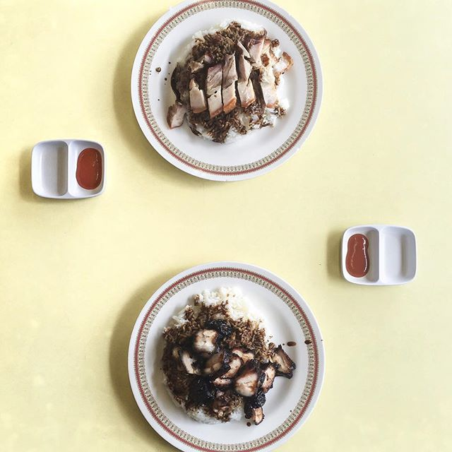 Char Siew Rice And Roast Pork Belly
