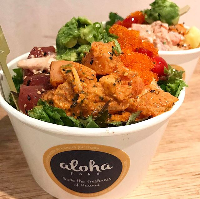 My favourite flavour in this yummy poke bowl is the mentaiko seasonal salmon!