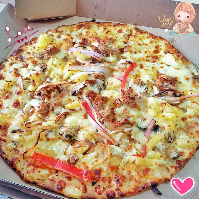 Tuna Temptation Large Size Chruncy Thin Crust Pizza
