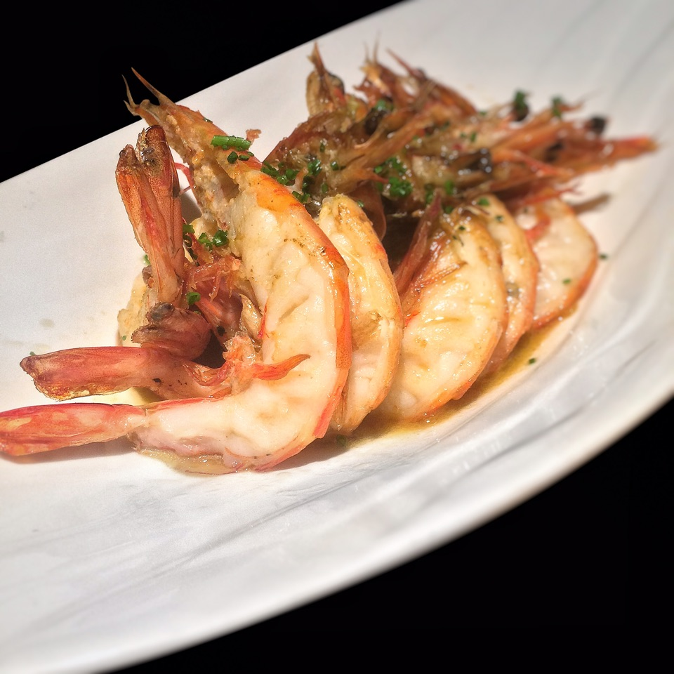 "Prawns in ""Ajillo"" sauce (Garlic & White Wine) $20"