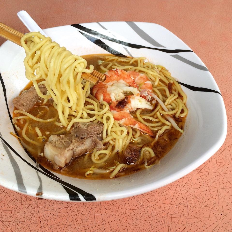 Prawn Pork Rib Noodles $8(Medium)