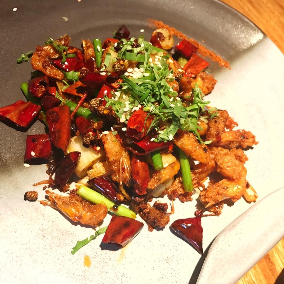 Sichuan Spicy Kawa Shrimp