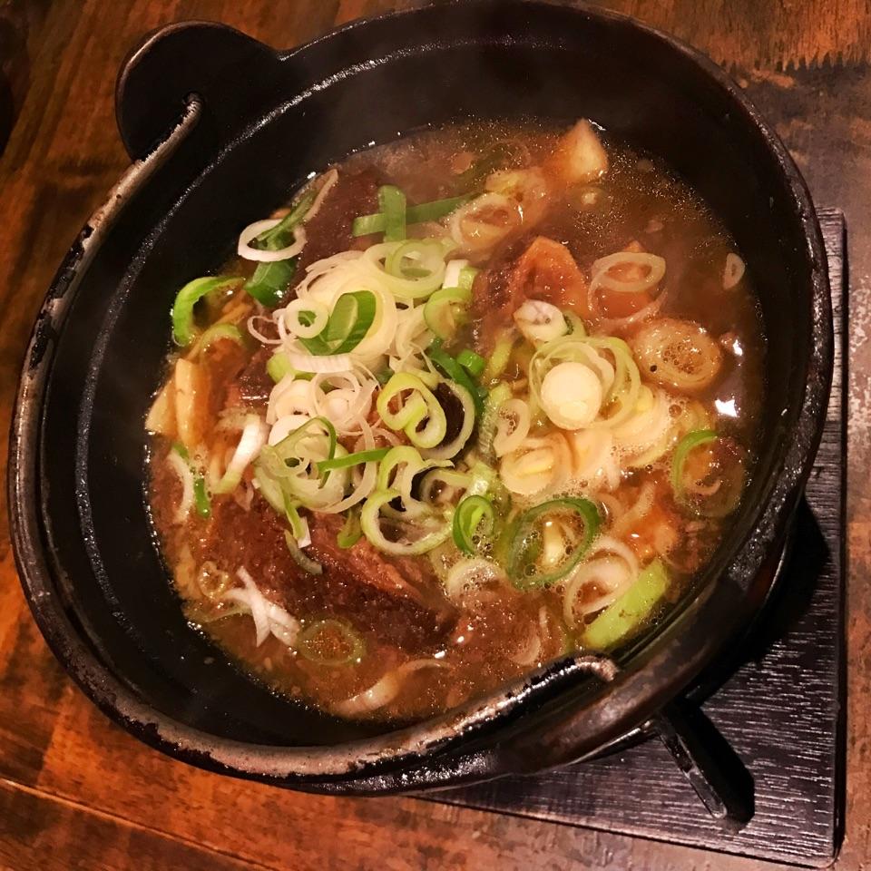 Beef Ribs In Soy & Leek Stew