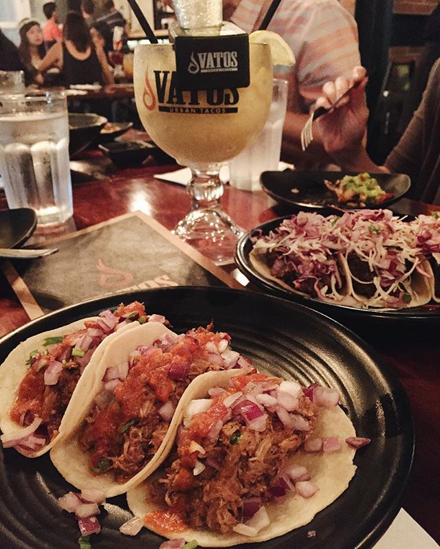 Back here for their tasty #tacos and upsized vatos-ritas!