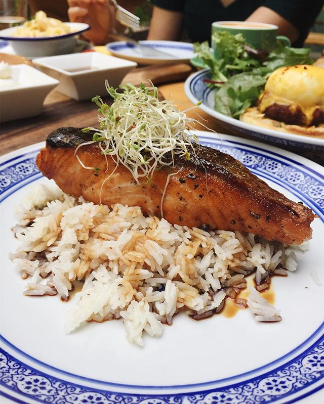 The #Yakitori #Salmon ($24) isn't a dish that has been recommended often, but it's gotta be one of my favorite items from @noshsg!