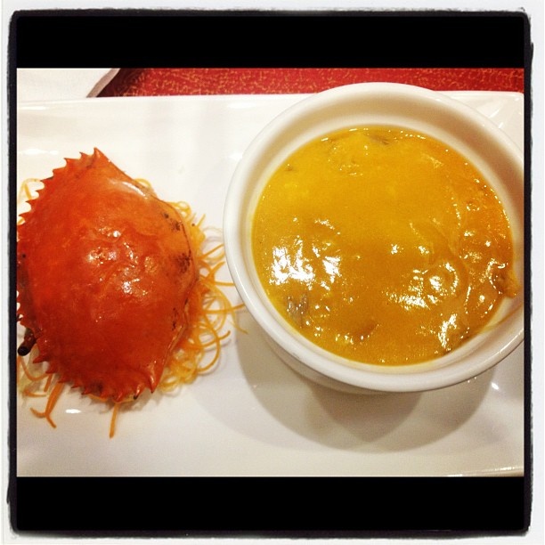The precious Shark's Fin with Crab Roe Soup!!