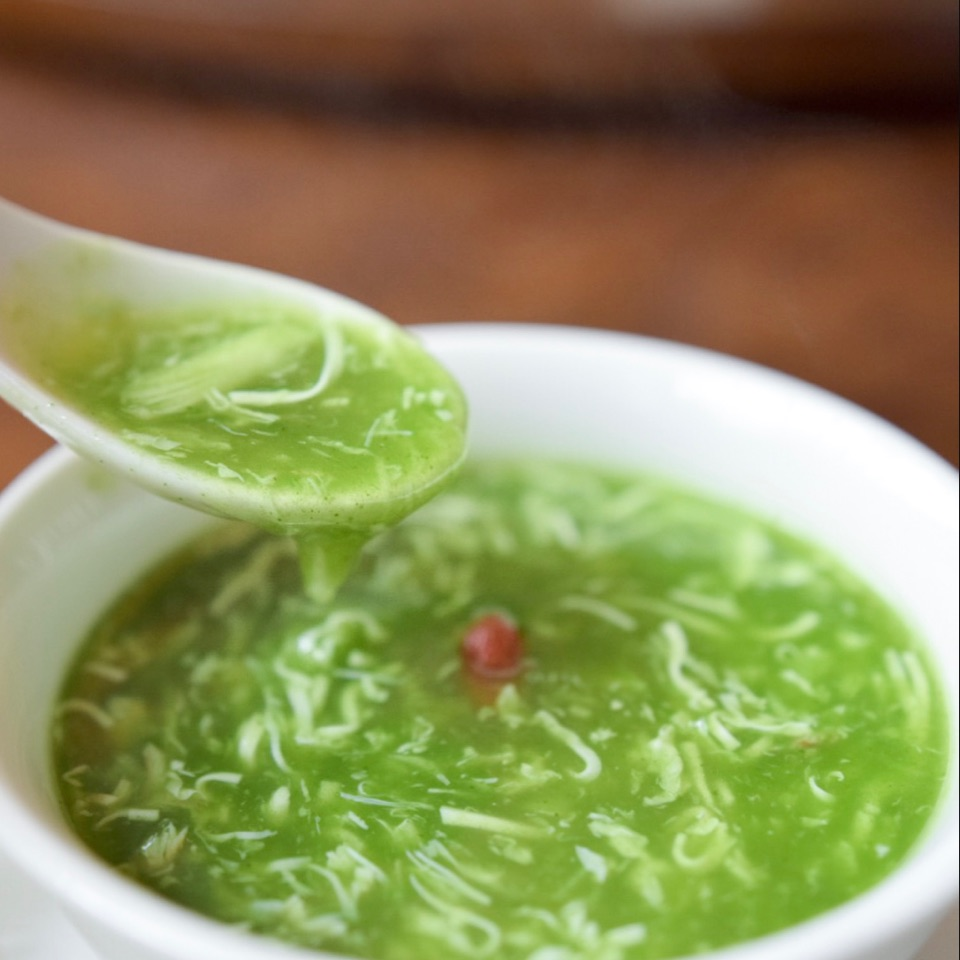 Crab Meat Spinach Soup