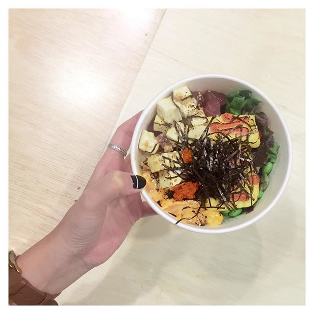 A Friday healthy treat features @torchedsg's Signature Torched Poke Bowl ($15) with an additional topping of Torched Sesame Tofu (+$1).