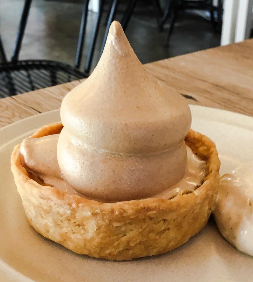 Homemade Pumpkin Pie with Toasted Milk Softie