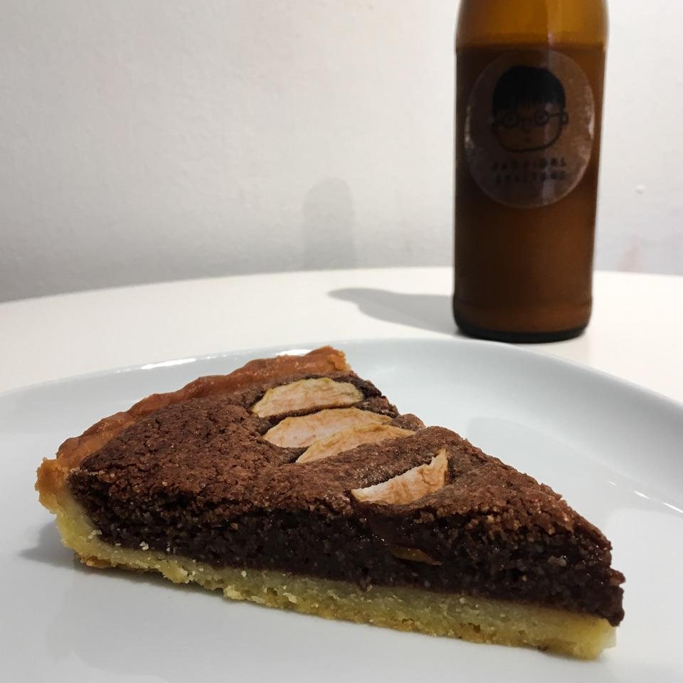 Chocolate Frangipane & Caramalised Pear Tart