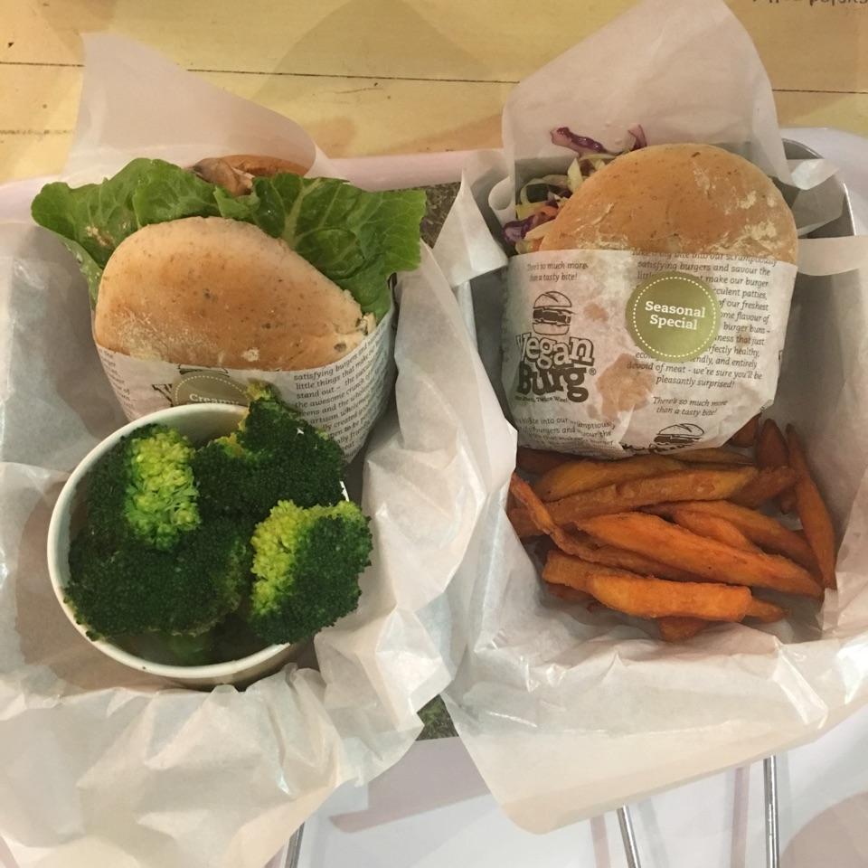 Cranberry Slaw burger & Creamy Shrooms Burger