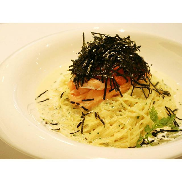 {Norwegian Salmon Capellini}  Wow this was so good I don't even know where to begin.