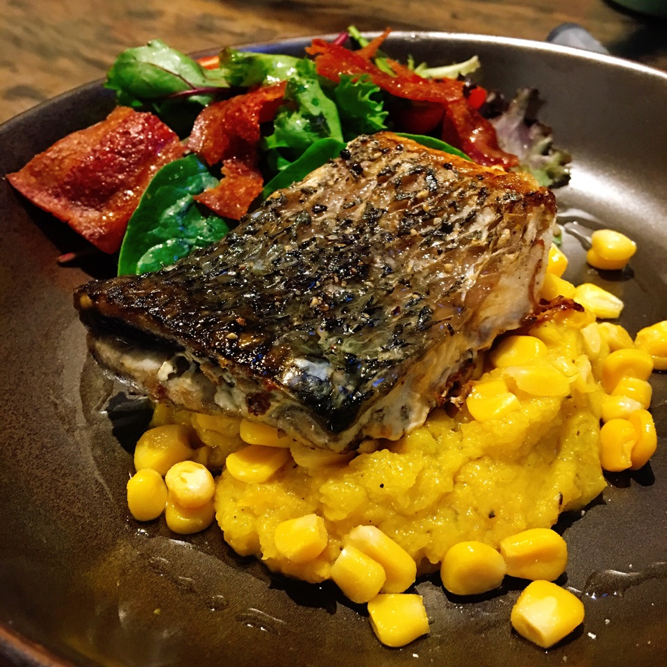 Pan-Seared Sea Bass ($17)