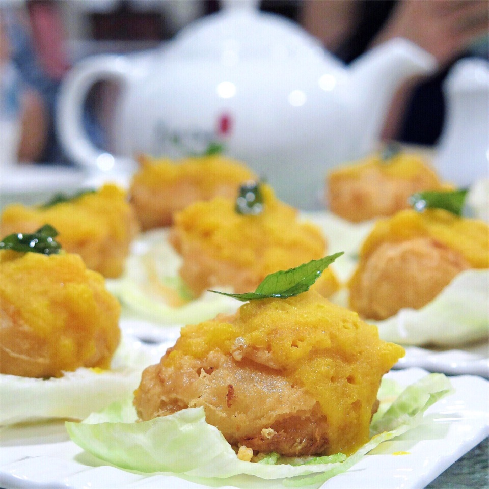 Salted Egg with Stuffed Scallop [$14.80 for 3 Pieces]
