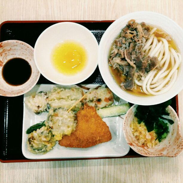 Affordable udon and tempura