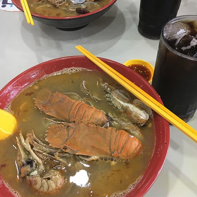 A good bowl of crayfish noodles for just $15.