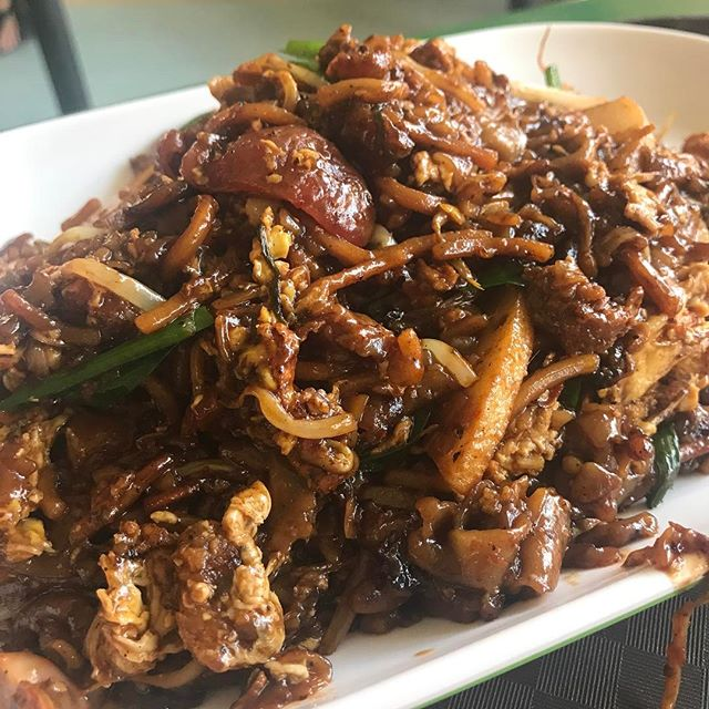 The hubs finally got a taste of the char kway teow here.