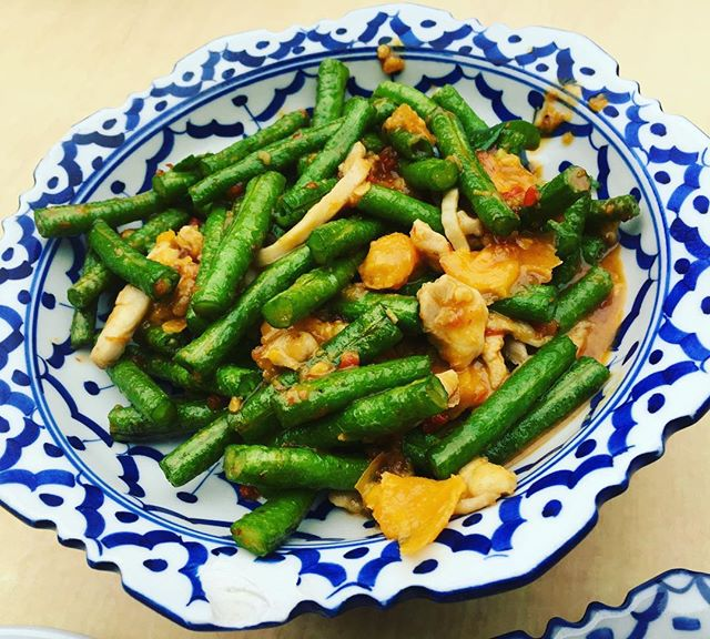 Long Beans with Salted Egg Yolk .