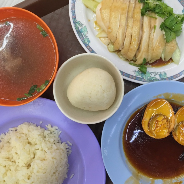Chicken Rice + Rice Ball ($4.70)