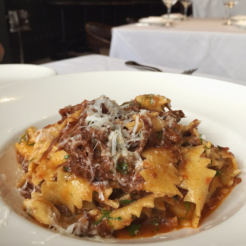 Tagliatelle with Oxtail Ragout and Pecorino ($39++)