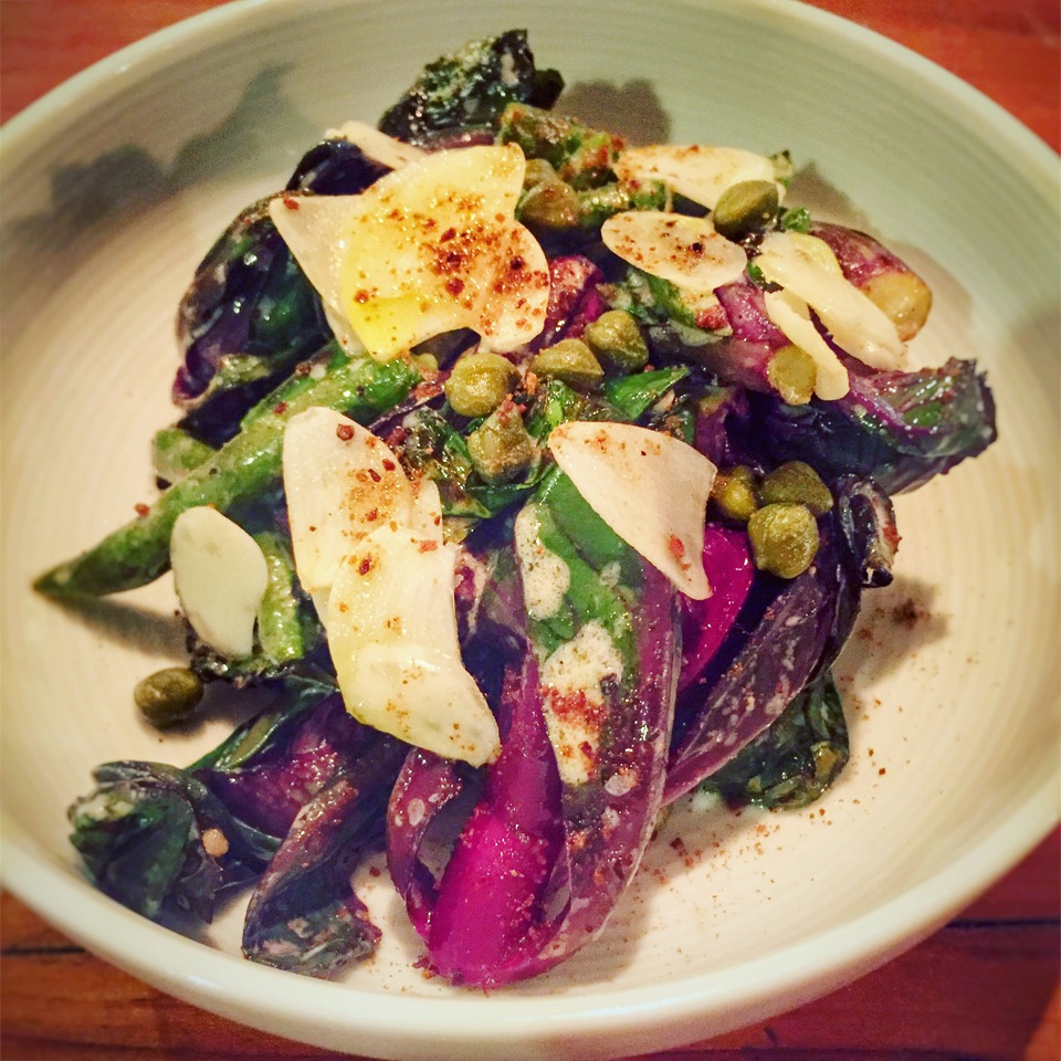 NEW Small Dish: Pan-roasted Cabbage Shoots & French Beans