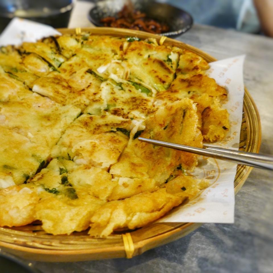 Seafood & Green Onion Pancake ($25++)