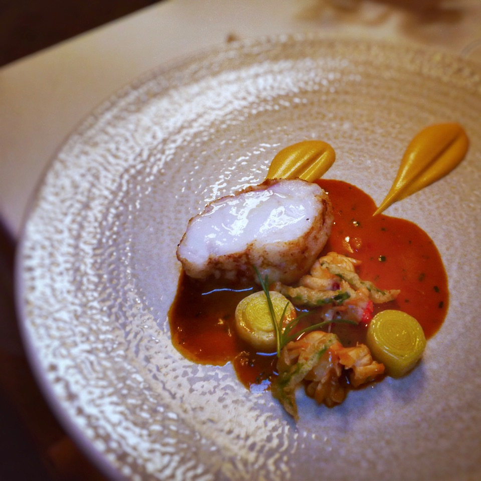 Pan Fried Monkfish With Lobster (A Course In The Chef's Tasting Menu)