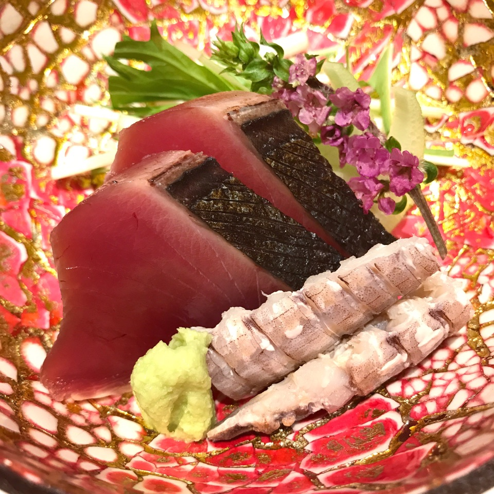 Smoked Bonito & Mantis Shrimp - Part of the $180++ Omakase Lunch