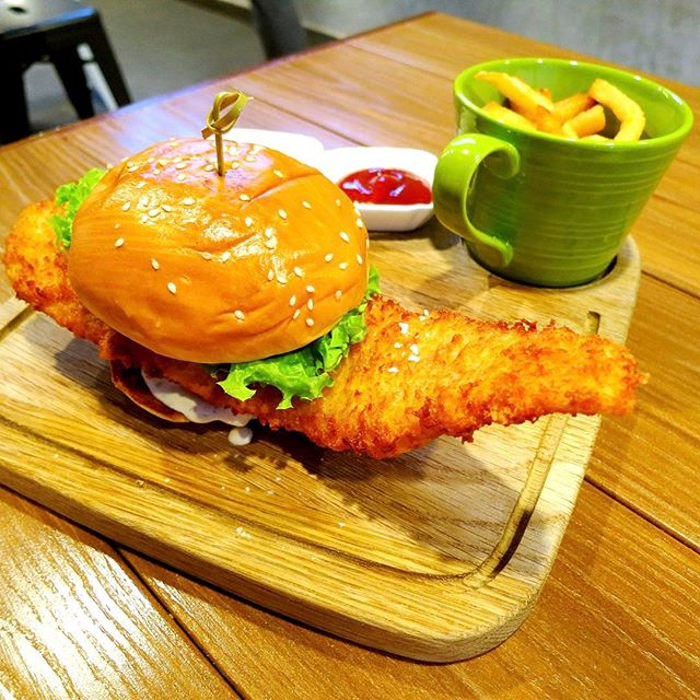 Fancy a long slab of fish in your burger?