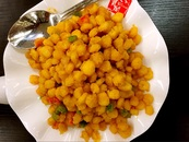 Crispy Golden Corn In Salted Egg Sauce