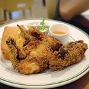 [Clinton Street Baking Company] • Located at Bugis, Butter Fried Chicken Plate is their award winning recipe, crispy chicken with corn bread and slaw.