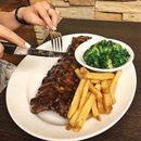 Coca-Cola Baby Back Ribs ($26.90++ for half with 6 ribs, $35.90 for medium with 9 ribs, $41.90 for full with 12 ribs)  These baby back ribs are very tender and easily fall-off-the-bone!