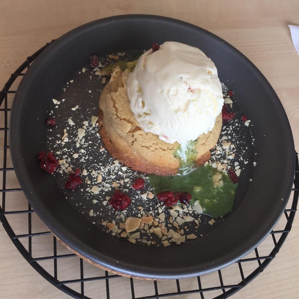 Nougat Ice Cream With Matcha Lava Cookie
