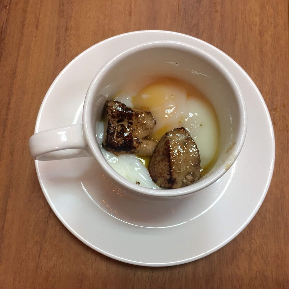 Soft Boiled Egg Foie Gras ($9.50)