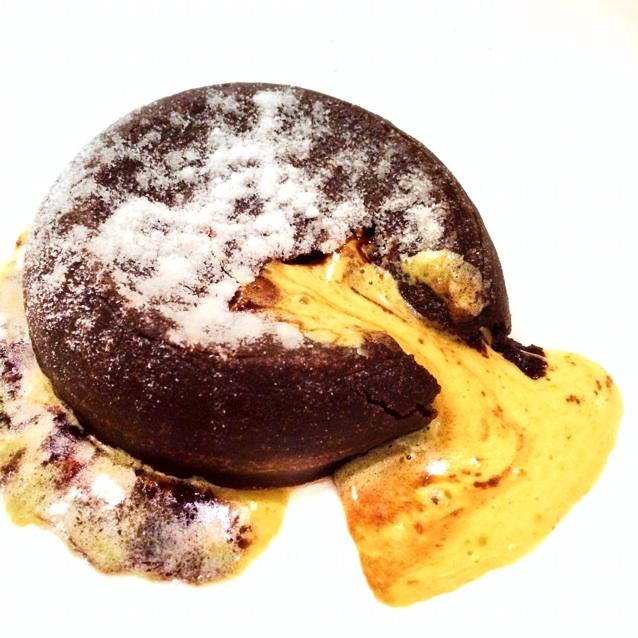 Golden Custard Lava Cake