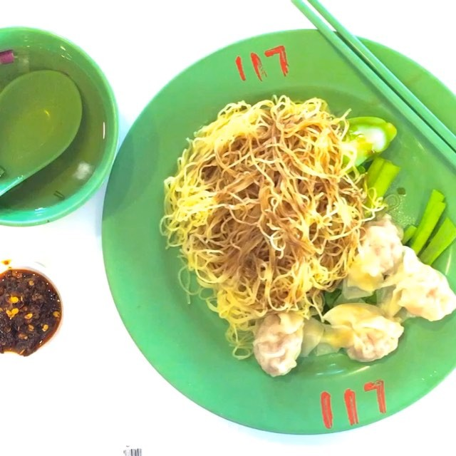 """This is known as the """"Crystal Jade"""" Noodles, cooked by Master Tang who was the Chef behind CJ's signature noodles."""