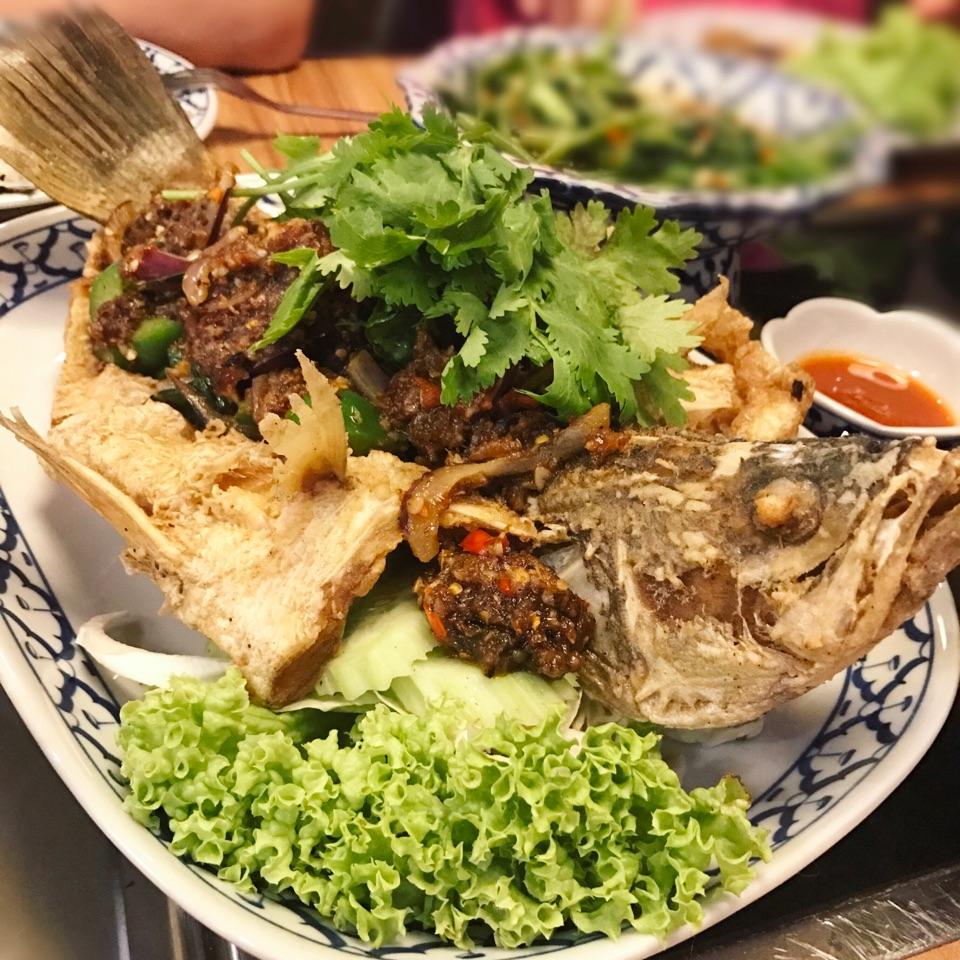 Deep Fried Sea Bass With Thai Sambal ($19.90)