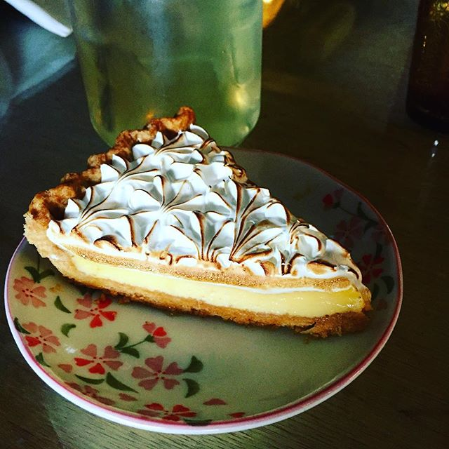 The lemon meringue tart.